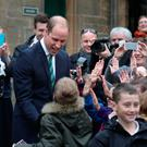 The Duke of Cambridge, known as the Earl of Strathearn in Scotland, meets children from Allan's Primary School