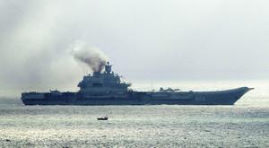 The Russian aircraft carrier Admiral Kuznetsov and other warships are expected to refuel at Ceuta