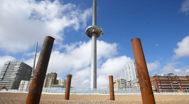 Prince Philip will get a view from the top of the British Airways i360 attraction in Brighton