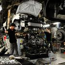 Nissan workers building the Qashqai in Sunderland