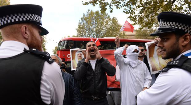 Campaigners claim the wife of a UK-based Bahraini dissident was