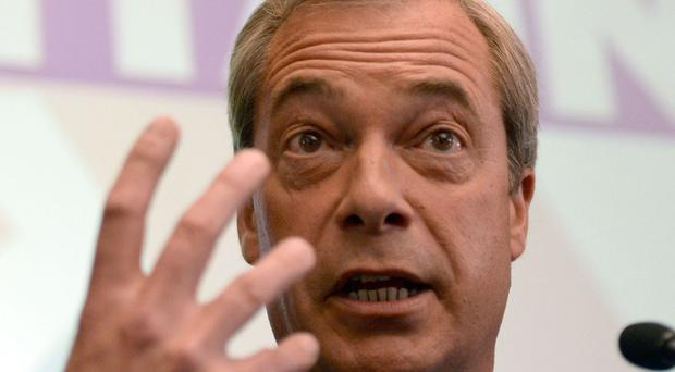 File photo dated 04/07/16 of Nigel Farage. The frontrunners for the leadership of Ukip have reportedly said that they will campaign for him to obtain a seat in the House of Lords.