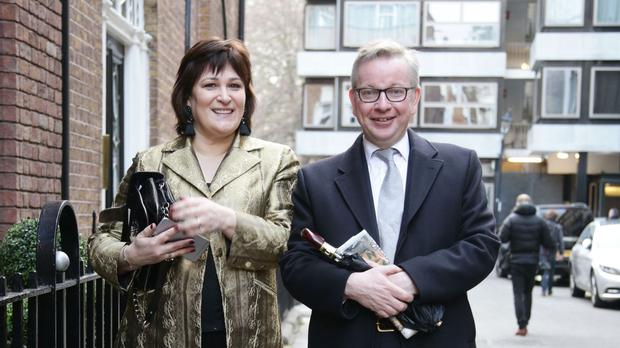 Michael Gove and his wife Sarah Vine attended a function to celebrate the end of the Cheltenham Literature Festival