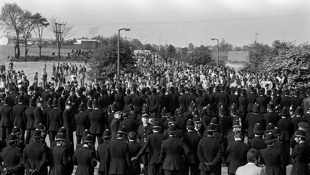 The so-called Battle at Orgreave became one of the most infamous showdowns between pickets and police during the miners' strike.