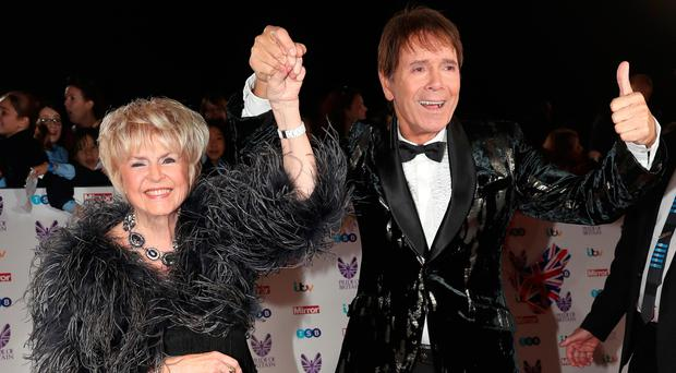 Gloria Hunniford with Cliff Richard