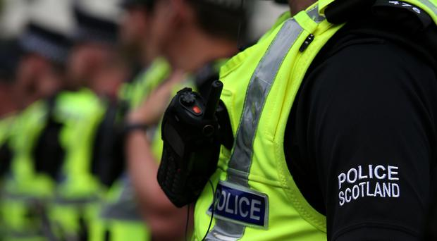 Police were called to RAF Tain, near Inverness