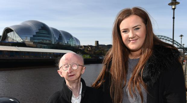 Alan Barnes in Newcastle with Katie Cutler