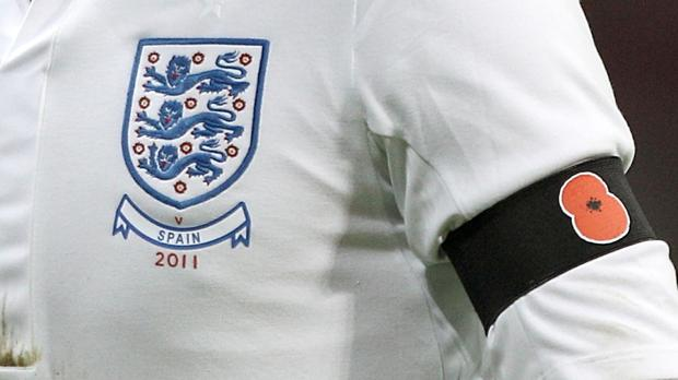 England and Scotland players will wear the poppy symbol during their Armistice Day World Cup qualifier