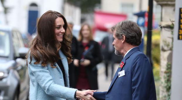 The Duchess of Cambridge arrives at the Nelson Trust Women's Centre in Gloucester as part of her work on addiction and mental health