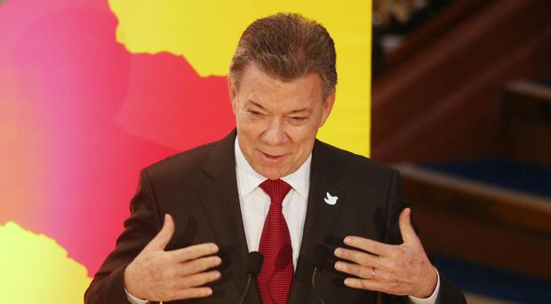 Colombia's president Juan Manuel Santos talked about trade opportunities