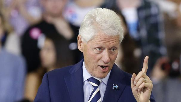 Former president Bill Clinton was speaking at a private fundraising event (AP)