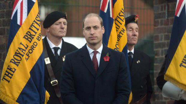 William honoured the fallen
