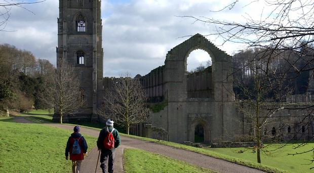 Experts used ground-penetrating radar to make the find at Fountains Abbey