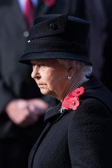 The Queen attends the annual Remembrance Sunday Service at the Cenotaph at Whitehall