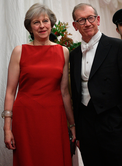 Prime Minister Theresa May and her husband Philip attend the Lord Mayor's Banquet at Mansion House in London last night