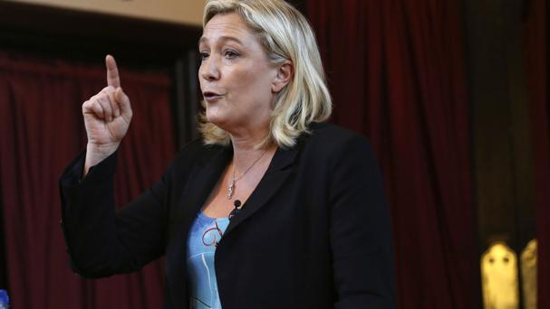 Nigel Farage has distanced himself from Marine Le Pen's party.