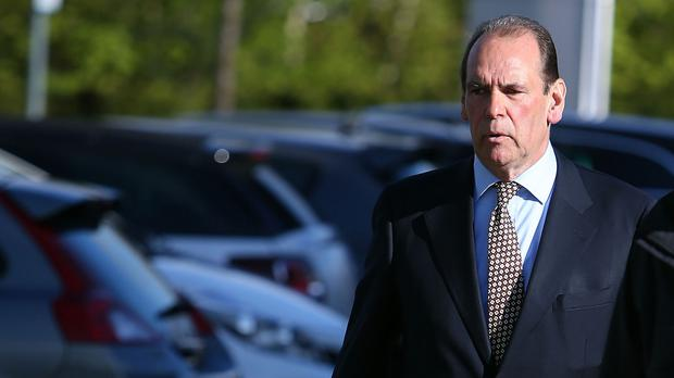 Sir Norman Bettison arriving at the Hillsborough inquest
