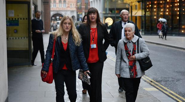 MP Jo Cox's sister Kim Leadbeater (left), and mother Jean Leadbeater (right) arrive at the Old Bailey in London for the trial of Thomas Mair who is accused of her murder