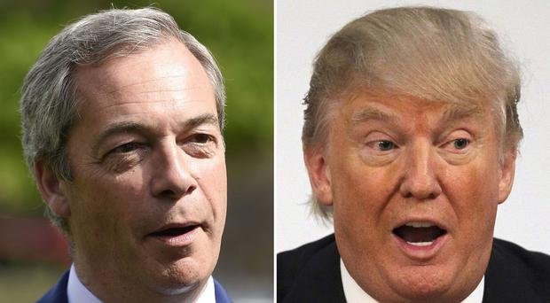 Nigel Farage would do a great job as the UK's ambassador in Whashington, Donald Trump said