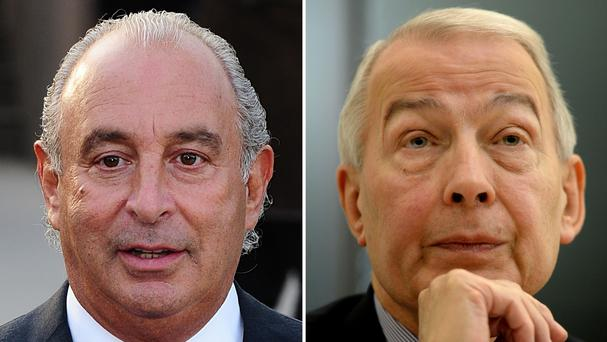 MP Frank Field, right, has asked whether Sir Philip Green's assets could be seized over the BHS pensions black hole