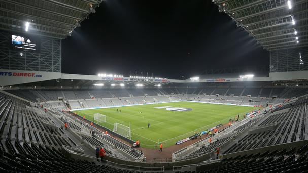 Newcastle United FC's St James' Park stadium