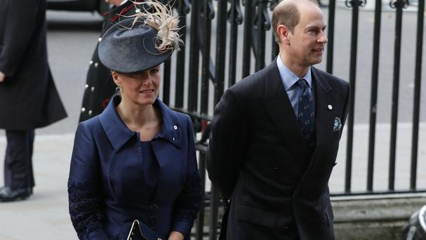 The Earl and Countess of Wessex arriving at Westminster Abbey