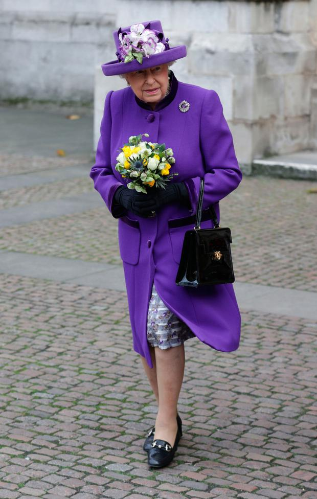 The Queen attends the service at Westminster Abbey to mark the 60th anniversary of the Duke of Edinburgh Award
