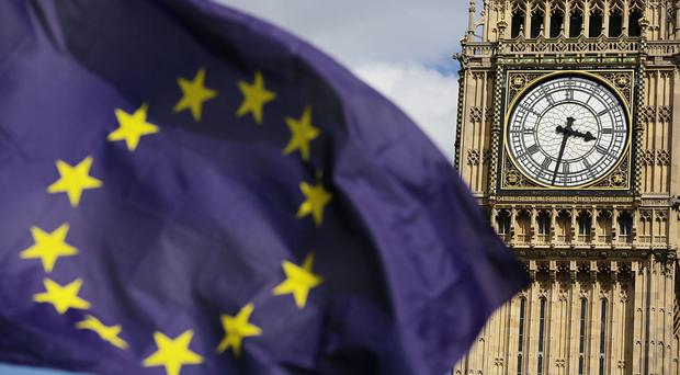 The handwritten note was caught by a long-lens camera as Tory vice-chairman Mark Field and his aide left a meeting with the Department for Exiting the EU at 9 Downing Street