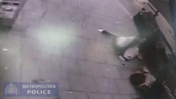 CCTV footage shows two women being struck in a hit-and-run crash in West Norwood, south-east London, which left one of them paralysed (Metropolitan Police/PA)