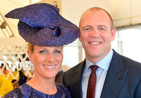 Thrilled: Zara and Mike Tindall