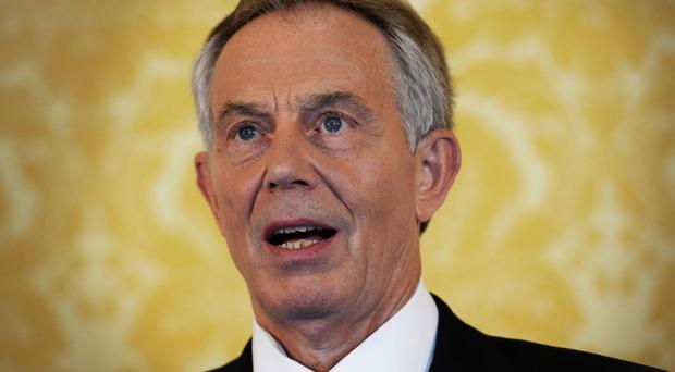 Tony Blair says the institute is not a step towards him returning to the front line of UK politics