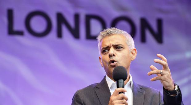Mayor of London Sadiq Khan issued the warnings for the first time at bus stops, Tube stations and roadsides in the capital
