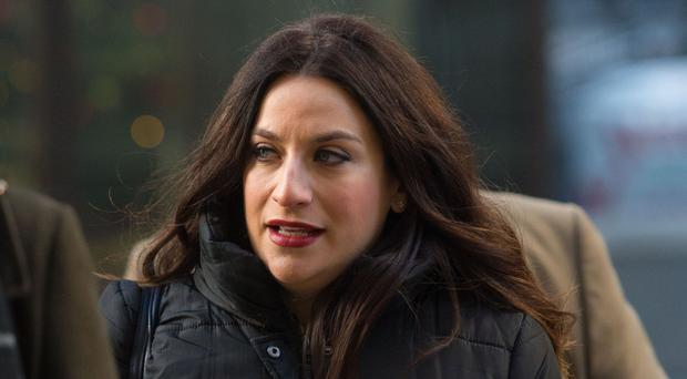 Labour MP Luciana Berger arriving at the Old Bailey