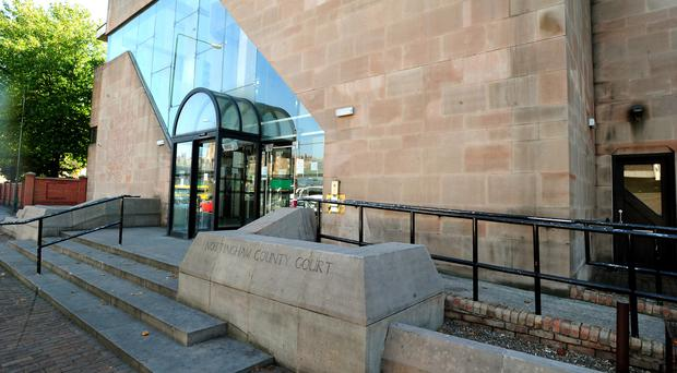 Jesse Burgoine, 28, and Artjom Nepryahin, 26, are on trial at Nottingham Crown Court