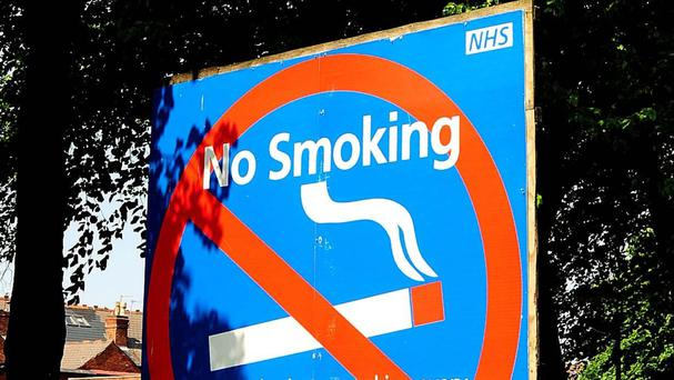 Some 40 per cent of hospitals had designated smoking areas while the others described their entire premises as smoke-free