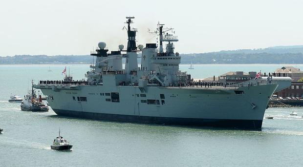 HMS Illustrious is to be towed to Turkey where she will be scrapped