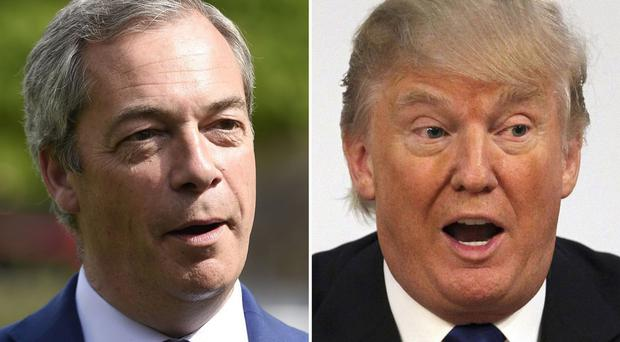 Nigel Farage and Donald Trump were both nominated for prestigious award.