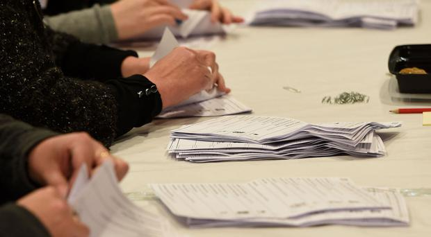 Counting begins for the Sleaford and North Hykeham by-election at One NK in North Hykeham, Lincolnshire.