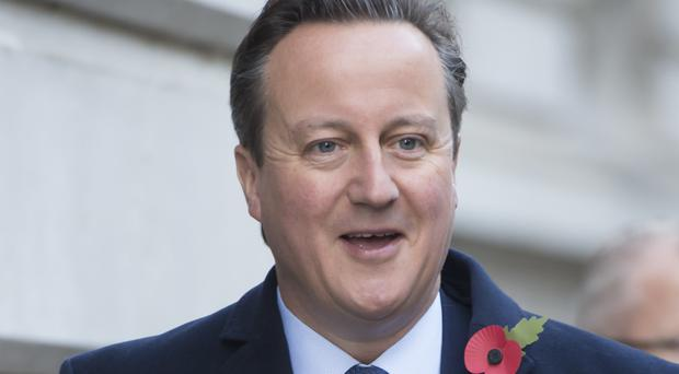 David Cameron was speaking to students at Depauw University in Indiana