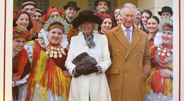 The Duke and Duchess of Cornwall's 2016 Christmas card