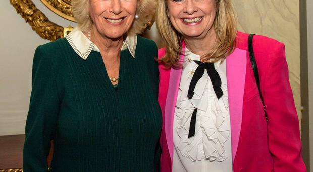 The Duchess of Cornwall meets Twiggy