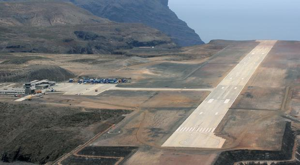 St Helena's new airport (Royal Navy/PA)