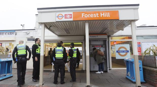 Police at Forest Hill station