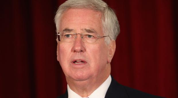 Sir Michael Fallon said the move is 'a clear message that we support Ukraine'