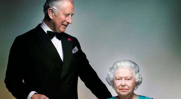 The photograph of the Queen and her eldest son, Prince Charles