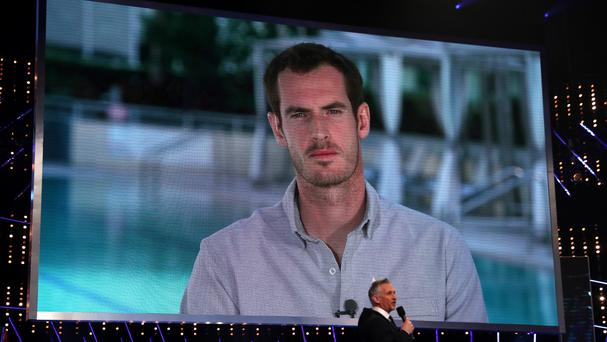 Andy Murray is interviewed by Gary Lineker at the BBC Sports Personality of the Year awards