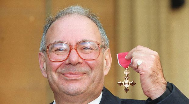 Rabbi Lionel Blue receiving his OBE at Buckingham Palace