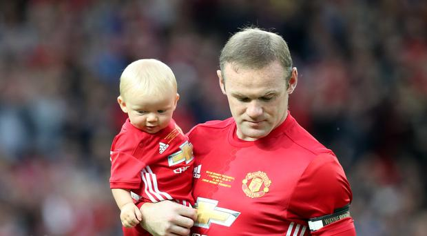 Manchester United's Wayne Rooney at his testimonial match