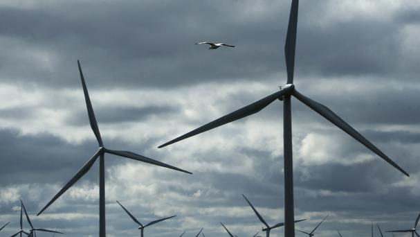 Wind farms are just one of the renewable sources of energy increasing their share of UK electricity.