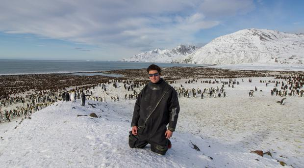 After spending last Christmas with seals and penguins in the sub-Antarctic, British scientist Jamie Coleman is on his way home to swap seabirds for turkey (Jamie Coleman/PA)